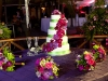 purple-flowers-caribbean-wedding-cake