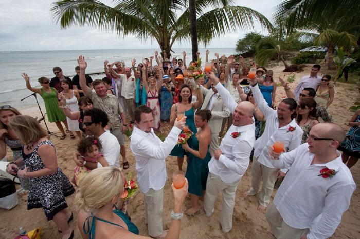 barbados-wedding-party-cheers