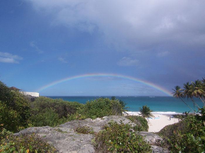 Barbados Beach Wedding Rainbow