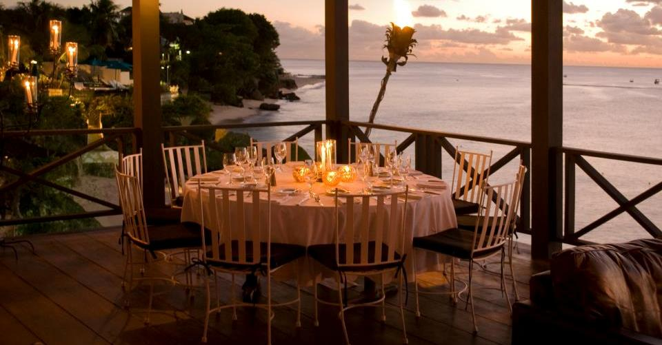 Wedding Reception at the Cliff Restaurant, Barbados